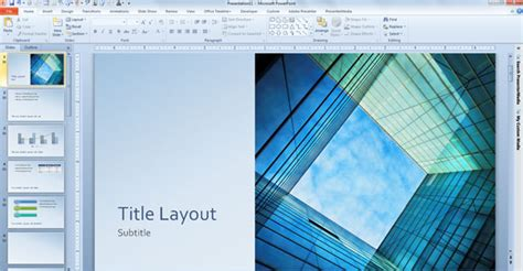 free glass cube marketing powerpoint 2013 template