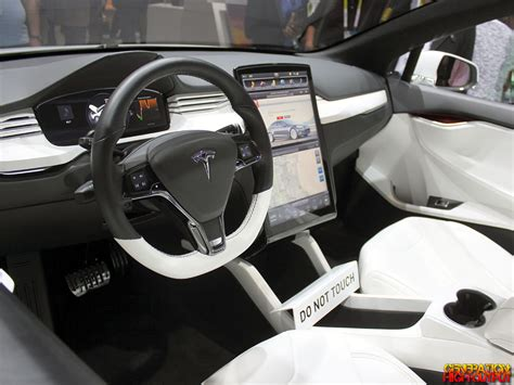 Model X Interior by Ces 2015 Cars Of The Future Genho