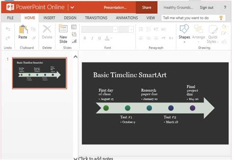 Timeline Smartart Diagram Template For Powerpoint Online Powerpoint Smartart Timeline Template