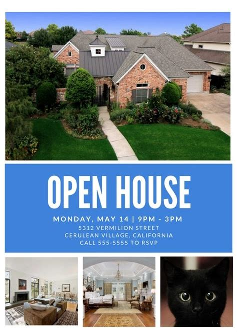 Free Open House Flyer Template ? Downloadable