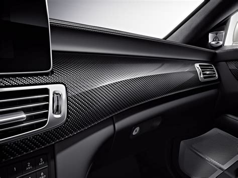 mercedes benz cls amg  model shooting brake interior photo carbon fiber trim size