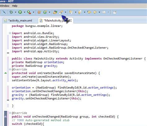 membuat aplikasi android radio button membuat aplikasi radio button android bungsu blogspot