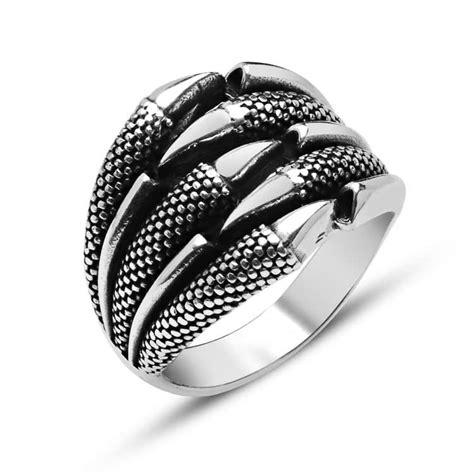 eagle claw design silver ring boutique ottoman