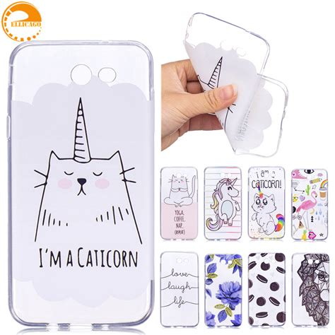 Soft Phone Samsung J7 2017 J720 Pelindung Casing Cover ellicago for coque samsung galaxy j7 2017 cases unicorn cat soft silicon cover for samsung