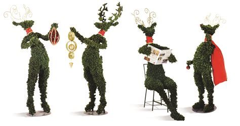 top 28 topiary reindeer topiary reindeer with led