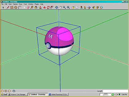 sketchup layout grid lines use google sketchup to make a directx ball accessory for