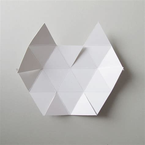 Geometric Paper Sculpture Templates diy project geometric concrete paperweight design sponge