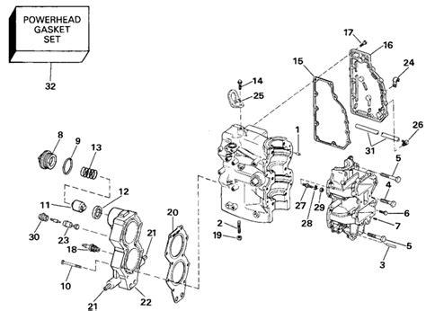 Suzuki Outboard Parts Canada Johnson Cylinder Crankcase Parts For 1990 40hp J40tlesr