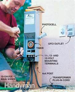 How To Install Landscape Lighting Transformer Low Voltage Outdoor Lighting The Family Handyman