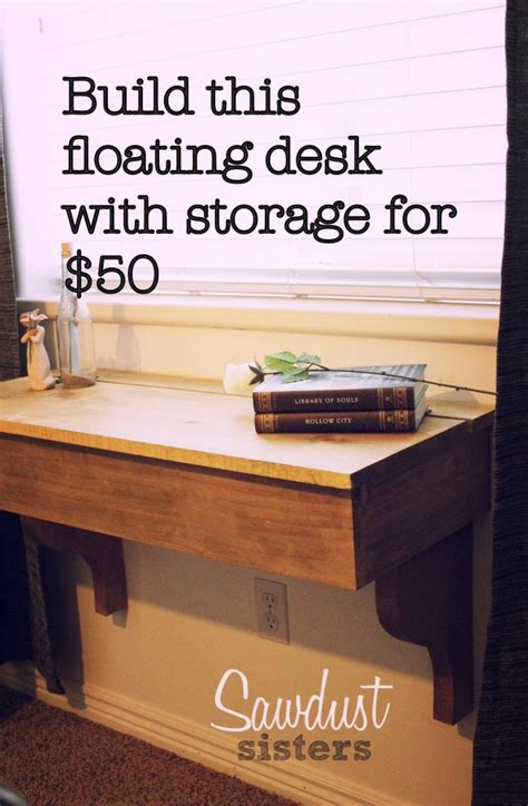 build a floating desk diy floating desk vanity with storage sawdust
