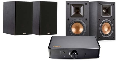 klipsch bookshelf speakers and powergate lifier