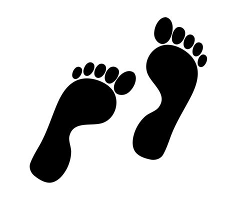 footprints clipart footprints silhouette clipart free stock photo