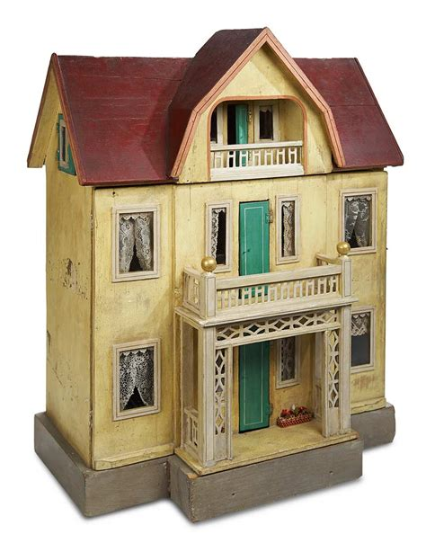 big wooden doll house home at last antique doll and dollhouses 252 large german wooden dollhouse by