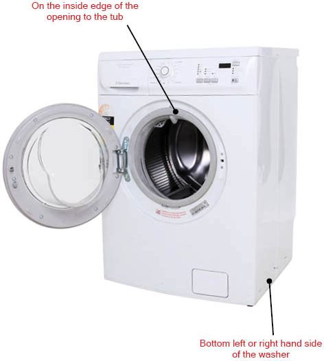 Locating the Model Number on a Front Load Washing Machine   Reliable Parts