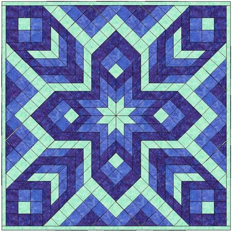 Quilting Square Patterns by Diamonds Squares 2 Mini Quilt By Valkstaff Craftsy