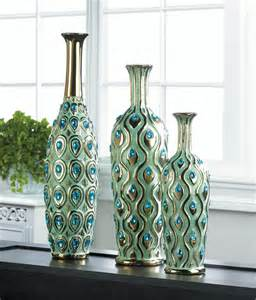Peacock Home Decor by Peacock Long Neck Jewel Vase Wholesale At Koehler Home Decor