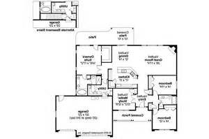 ranch floor plans with great room ranch house plans fieldstone 30 607 associated designs