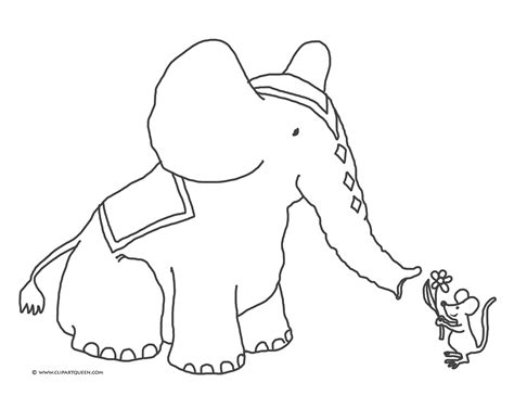 free coloring pages of elephant head