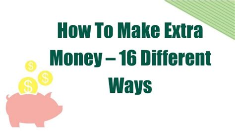 How To Make Extra Money Online - how to make extra money online