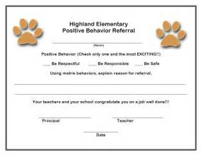 forms highland elementary positive behavior support