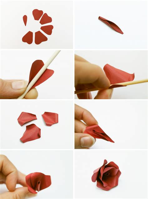 How To Make Roses Out Of Construction Paper - make this paper flower hair accessory diy paper and stitch