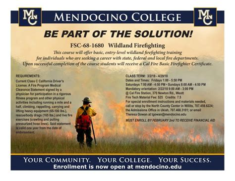 mendocino college offering wildland firefighting training redheaded blackbelt