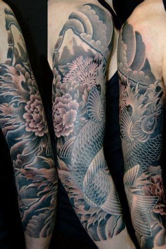 japanese peony black and grey sleeve by darko 1000 ideas about japanese sleeve tattoos on