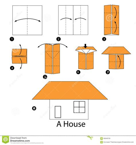 How To Make Origami House 3d - paper origami house 3d comot