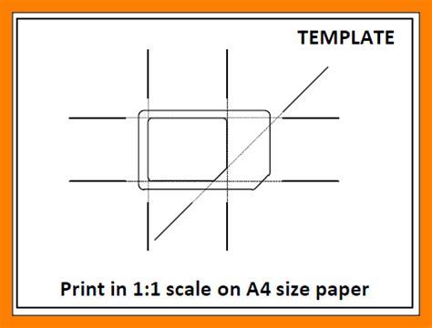 iphone 4 sim card size template sim card cutting template representation print a 4