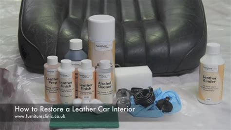 leather seat restoration kit leather colourant kit for leather colour