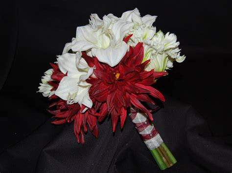 Feather By Amaryllis amaryllis parrot tulips dahlias bridal bouquet