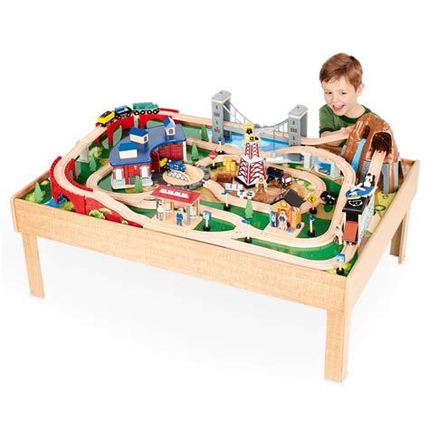 imaginarium table with roundhouse imaginarium table inc 100pcs w roundhouse
