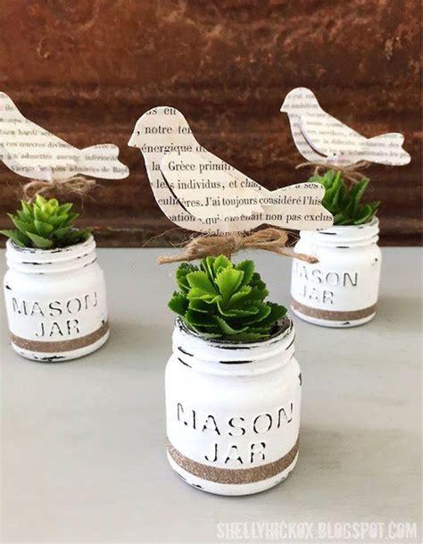 diy chalk paint jars mini jar craft ideas jar planter mini