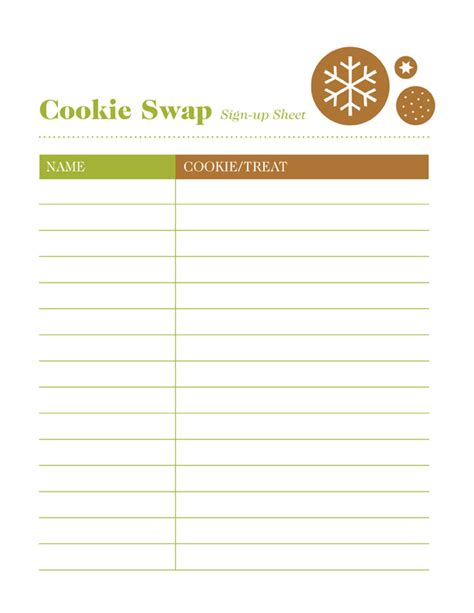 best photos of cookie exchange sign up template