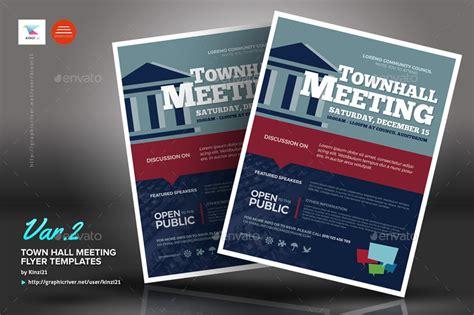 meeting hall town hall meeting flyer templates by kinzi21 graphicriver