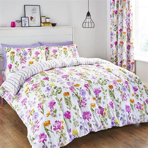 floral bed linen uk catherine lansfield floral meadow duvet cover curtains bed