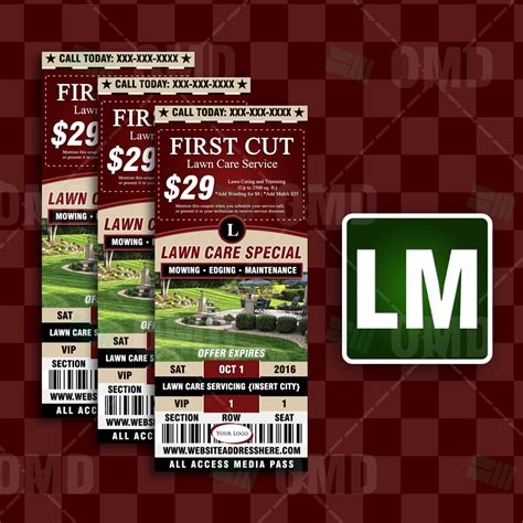 Home Market Type 1 Promo lawn care ticket style promo 3 the lawn market