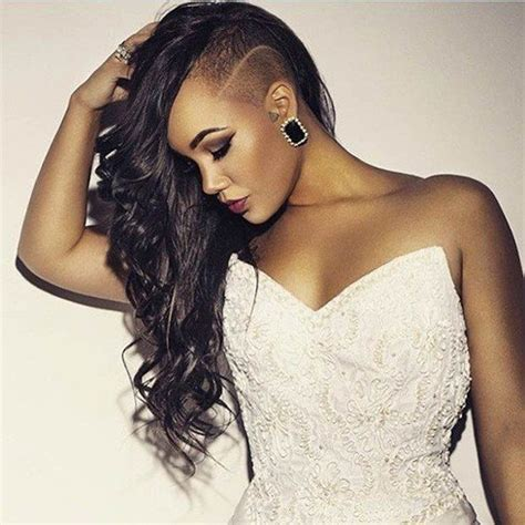 shaved hairstyles  women  touch  edginess   natural updo