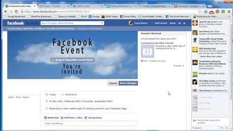 how to create a facebook page event and add a banner image