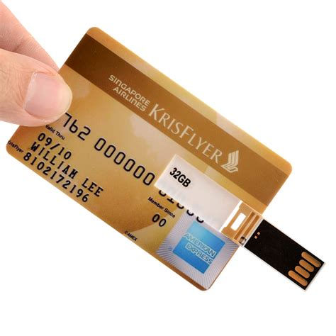 New 32gb 32 Gb Bank Card Shape Usb 2 0 Memory Flash Drive