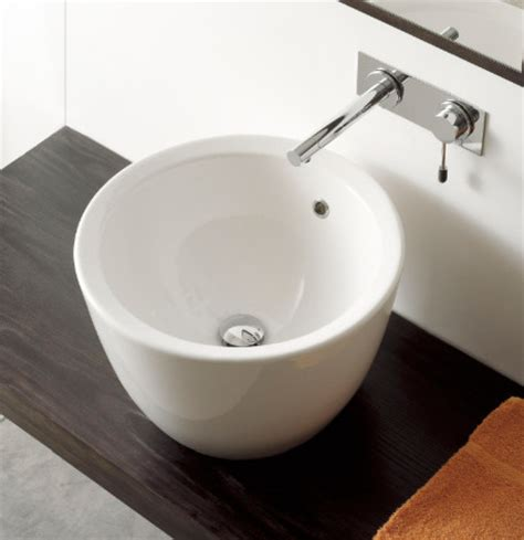 Counter Bathroom Sinks by Circular Above Counter Ceramic Vessel Sink By Scarabeo