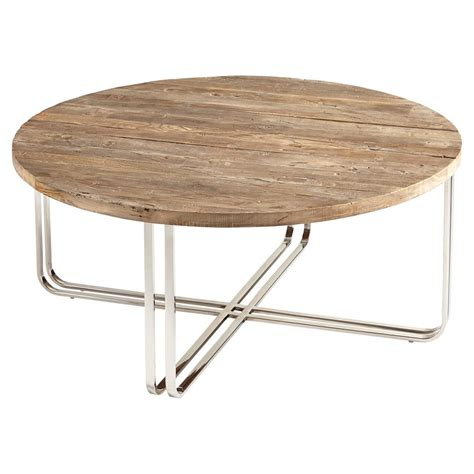 Silver Coffee Tables Trose Rustic Industrial Wood Silver Coffee Table Kathy Kuo Home