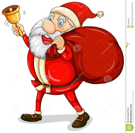 santa claus with his sack full of gifts royalty free stock