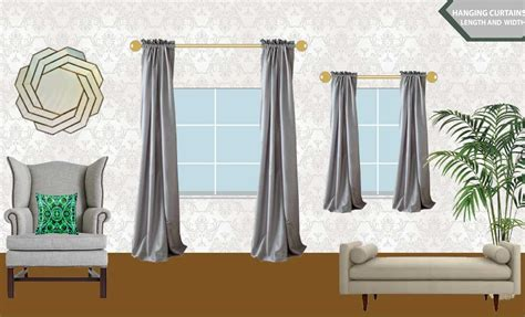 what size curtain rod for window curtains by length rooms