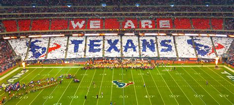 houston texans stadium houston texans playoff card stunt stadium card stunts by kivett productions