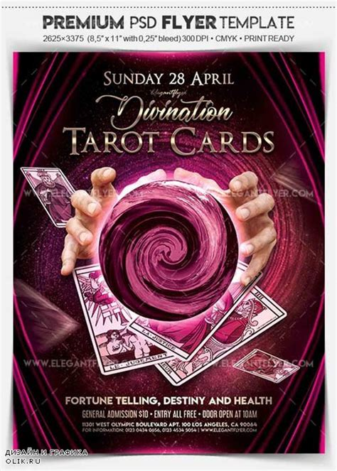 tarot card template psd tarot cards v1 2018 flyer psd template cover