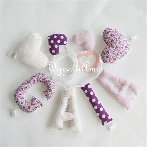 lettere di stoffa gaia una ghirlanda di lettere di stoffa per decorare la