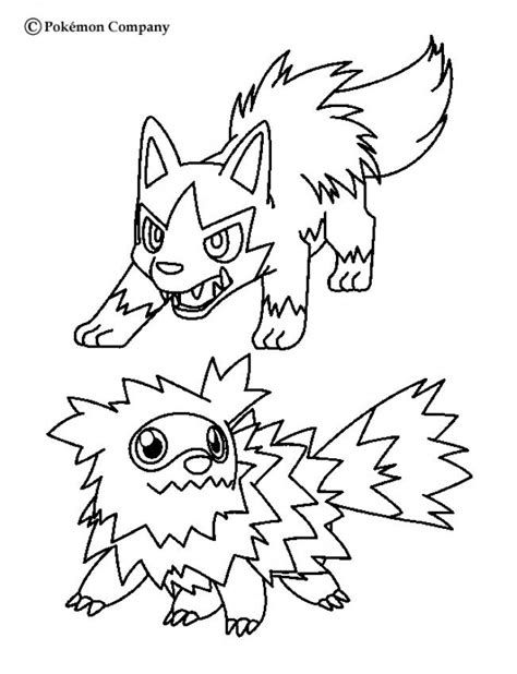 zigzagoon coloring page zigzagoon and mightyena coloring pages hellokids com