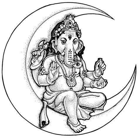 pencil of lord ganesh coloring pages