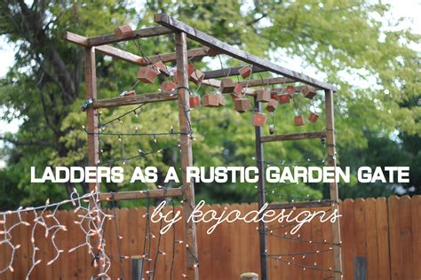 rustic backyard designs make it rustic garden gate